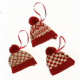 Hanging Winter Woolies Bobble Hat Christmas Decorations in 3 Styles